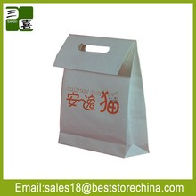 die cut out handle paper bag with customized design
