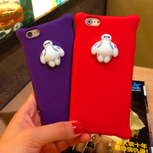 Cute big white phone shell bubble anti fall Case for apple iphone 5S ultra-thin soft shell cartoon Silicone Case cover
