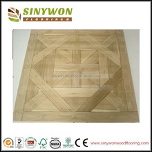 Natural Oak Parquet Flooring Solid-Tape on the surface and staple on the back