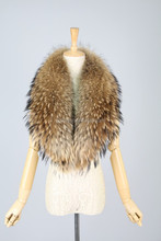 QC9186-2 length 120cm high quality natural real raccoon dog fur collar customize any sizes and any color