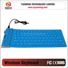 computer wired silicone keyboard with cable