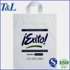 Plastic soft loop handle bag, shopping used soft loop handle plastic patch handle bag