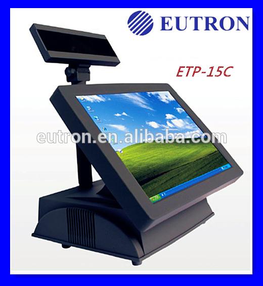 дешевые двухъядерный 15'' сенсорный жк-экран магазин pos кабинет