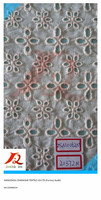 embroidered cotton voile fabric, Cotton embroidery lace for children's garments