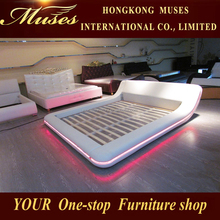 2015 The latest fashion leather bed with Speaker&LED lighting SY1064#