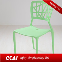 Dining rom plastic furniture cheap stackable movable modern plastic chairs