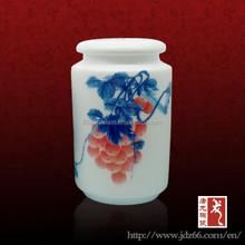 Pequeño pintado a mano tarro de la porcelana de la vela decorativa tarros