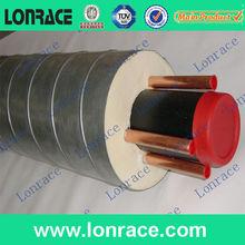 lonrace en espiral de acero de la pu jackct aislamiento de tuberías