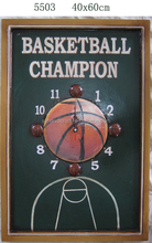 home furniture for home decoration,latest products in market wooden clock plaque,basketball printed wall decorative plaque