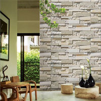 2015 Modern design Sticker PVC 3D Wall Paper with marble wall