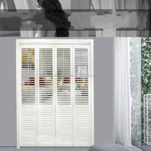 Horizontal Basswood Sliding Window French Shutter Door
