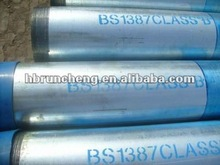 Q235 BS 1387 Galvanized seamless carbon steel pipe/tube