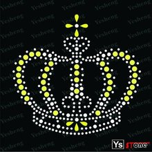 A3014 wholesale crown cheap iron on rhinestone transfer