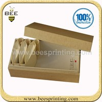 Accept small quantity recycle kraft paper gift box/tea box in free sample