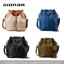 drawstring designer leather vintage bag womens leather handbag
