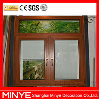double swing casement french window with blinds top fixed design