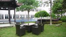 2015 dining table Aluminium table Outdoor garden furniture teak material outdoor furniture