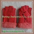 pieles guantes sin dedos para la señora