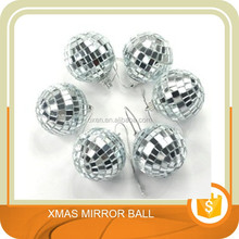6 pcs 1.8 Inch Disco Ball Mirror Party Christmas Xmas Tree Ornament Decoration