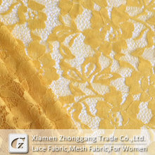 Super quality yellow lace fabric for Dresses