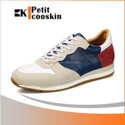 Men casual shoe 2 layers suede outside men sport shoes