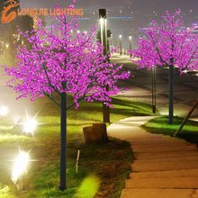 3240 led H: 3.5m pink led cherry tree for garden decoration