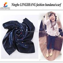 Custom polyester bandana scarf with digital printed fashion scarf hijab for women
