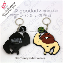 Wholesale promotion gift lovely cartoon pvc key chain by china manufacture