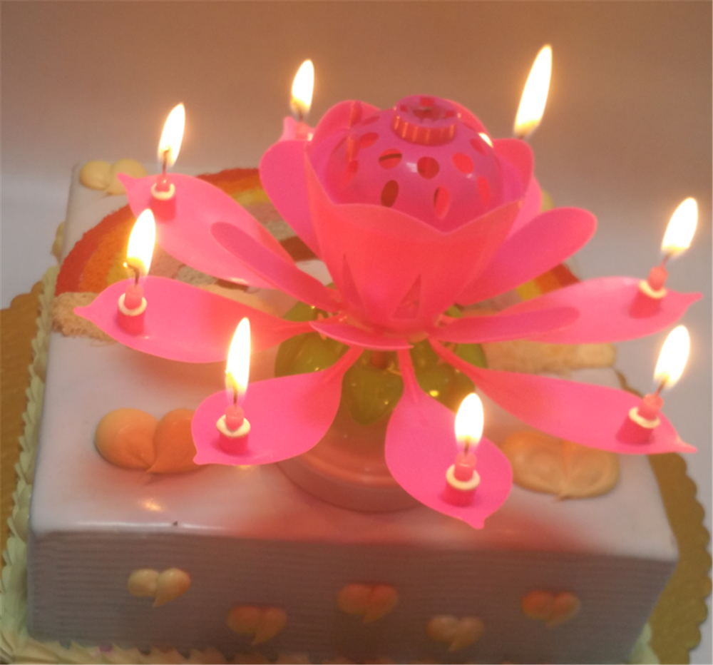 The Most Popular Magic Lotus Cake Flower Birthday Music Candle Buy