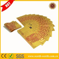 Top selling products 2015 Euro 500 Colore 24k gold leaf banknote, 24K Gold Foil Banknote Best Collection Gifts