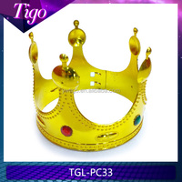 wholesale gold plastic king crowns
