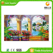 Zhejiang Wholesaler 3D Mosaic Of Acrylic Landscape Painting On Canvas