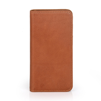 Brown bifold cover for iphone 4.7inch card case