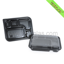 Disposable plastic fast food packaging container