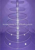 8 Tier 5mm Thick Round Maypole Acrylic Wedding Party Favour Cupcake Cake Stand