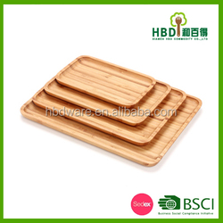 Buy Bamboo Wooden Food Tray Plate,Home Decoration rectangle Tray,Food Fruits Cheese Dish Platter Plate