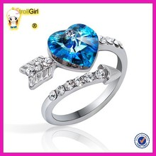 Yiwu juzhi wholesale wedding platinYiwu juzhi wholesale wedding platinum rings best selling wedding ring design with blue zircon