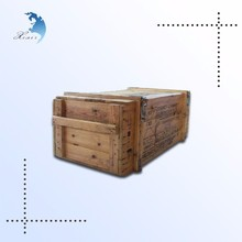 Low moq unique design printed large solid wood crate for packaging