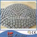 chino zhangpu granito negro en la red de cantos rodados de piedra para el jardín de piedra de pavimentación de pasta de red