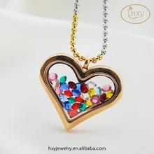 2015 new design elegant heart shape gold locket designs