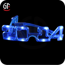 China Manufactured New Year Wear Decorative Plastic Number Party Eyeglasses