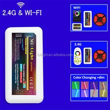 2.4G RF RGB wirelesss led strip DC12/24V smart solar controller m-7