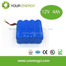 12V 4Ah Lithium ion battery pack for LED light devices
