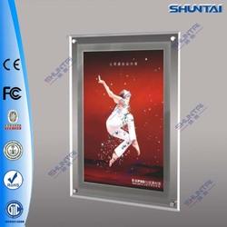 portable poster on wall slim acrylic pocket led light box