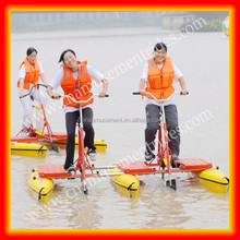 2015 new products amusement rides water bicycle/aqua park water bicycle/water tricycle bike hot selling for kids