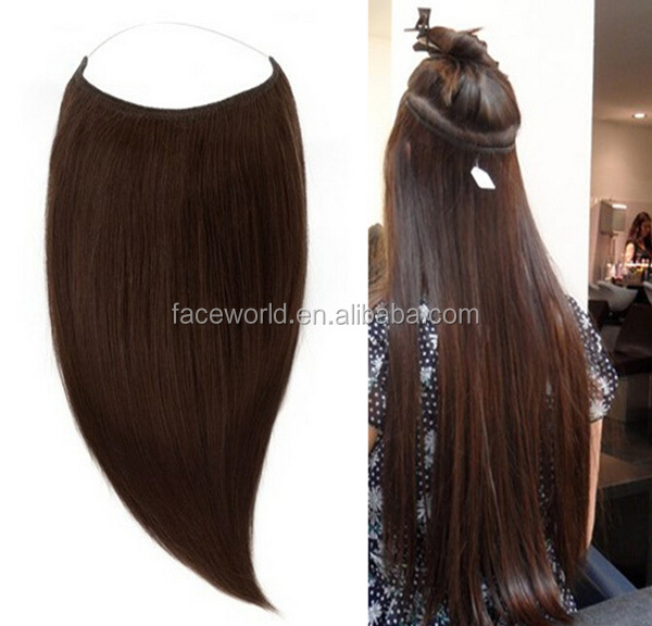Hair Extensions Halo Cheap Remy Indian Hair