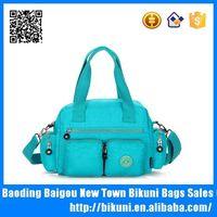 High quality cotton fabric mom handbag baby changing bag supplier