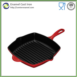 Barbeque Grill Pan/Cast Iron Square Grill Pan With Ribbed Cooking Surface/Griddle/Skillet