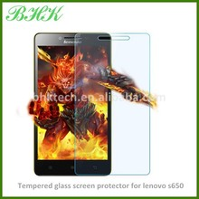 Mobile phone use explosion proof tempered glass screen protector for lenovo s650 , high quality screen protector