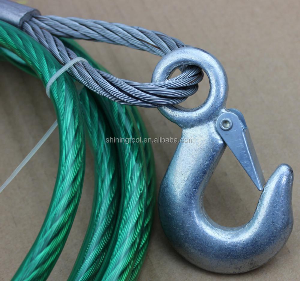 4mm 6mm 8mm 10mm 12mm 1t,3t,5t Pvc Coated Steel Tow Rope - Buy Pvc ...